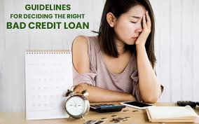 right bad credit loan